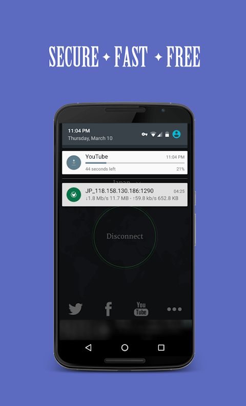 Android Solo VPN - One Tap Free Proxy Screen 2
