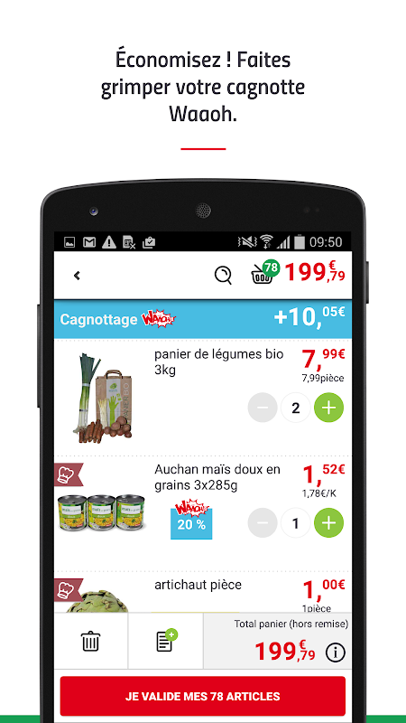 Android AuchanDrive - courses drive Screen 7