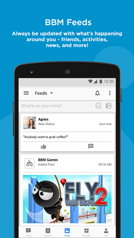 Android BBM - Free Calls & Messages Screen 4