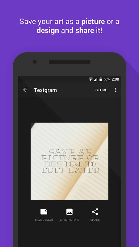 Android Textgram - write on photos Screen 6