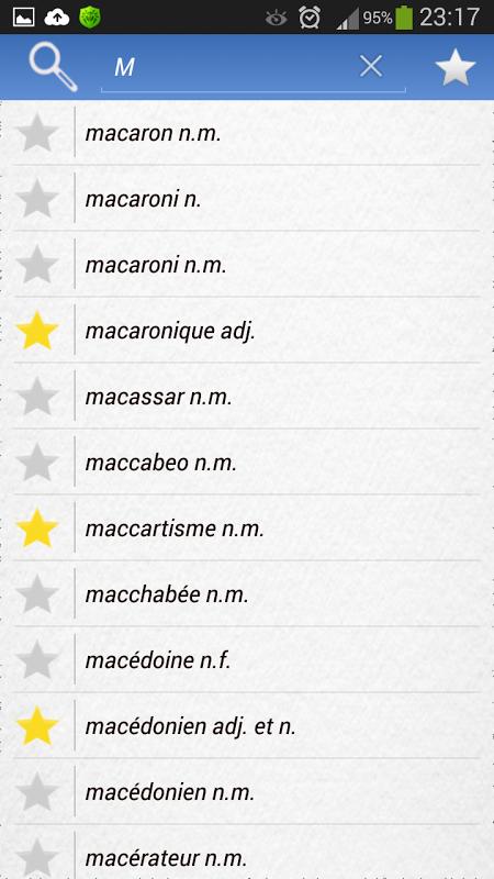 Android Dictionnaire Français Screen 1