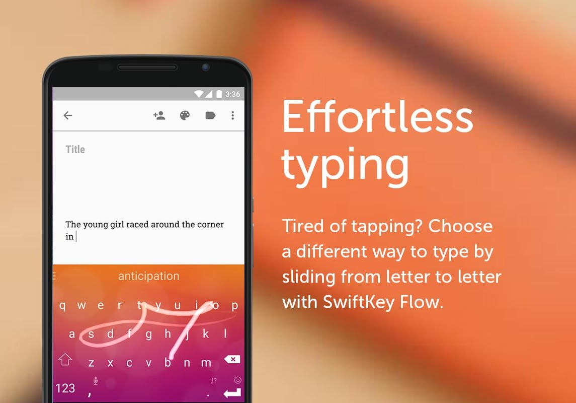 Android SwiftKey Keyboard Screen 2