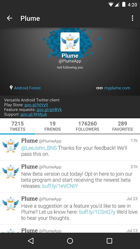 Plume for Twitter 6.26.1 Screen 12