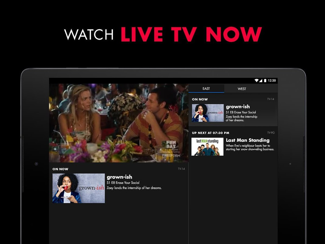 Android Freeform – Stream Full Episodes, Movies, & Live TV Screen 1