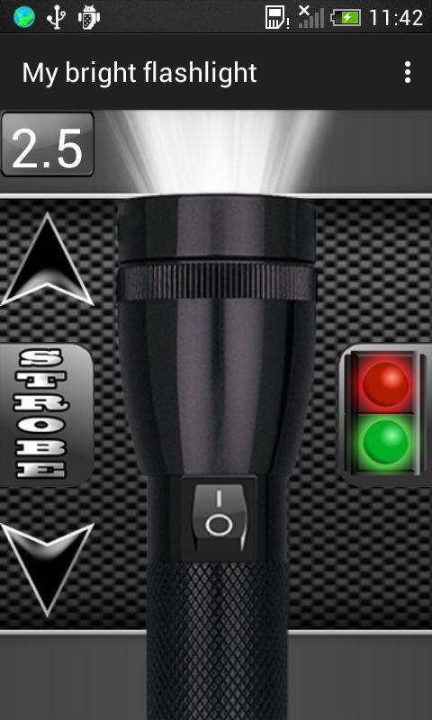 Android My Bright Flashlight Screen 2