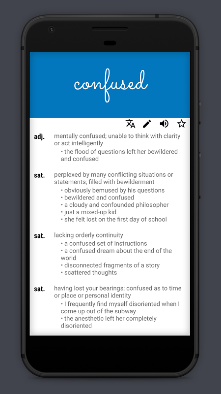 Android Look Up - A Pop Up Dictionary Screen 2