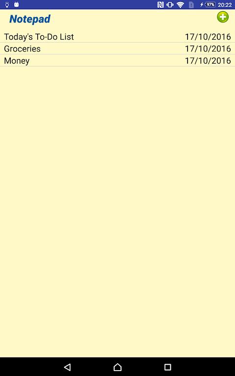 Notepad 1.6 Screen 5