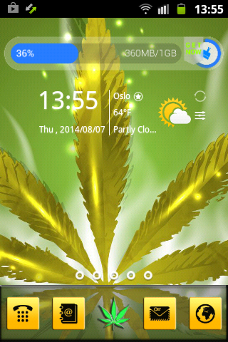 Android Weed Reggae HD GO Launcher Screen 1
