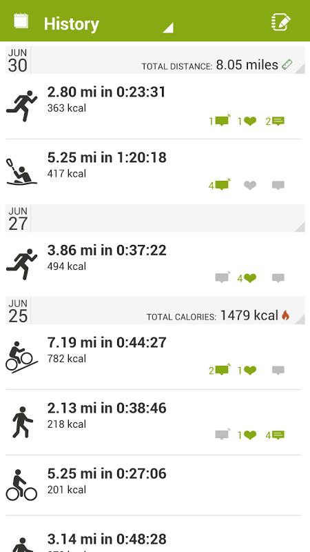 Android Endomondo Sports Tracker PRO Screen 4