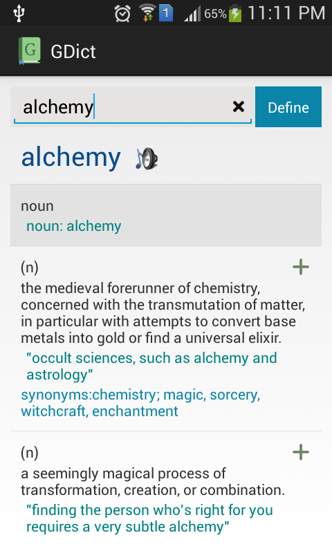 GDict - Google Dictionary Alternative for Android 2.5 Screen 4