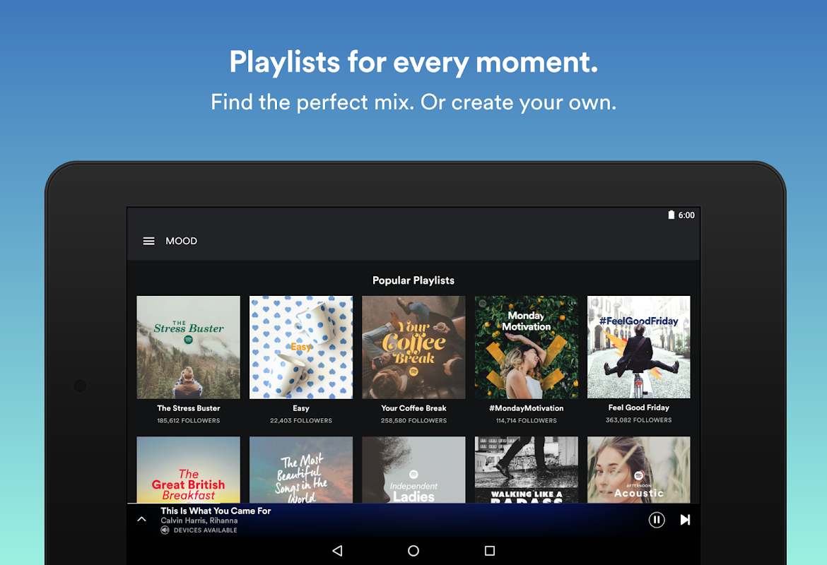 Android Spotify: Free Music Streaming Screen 3