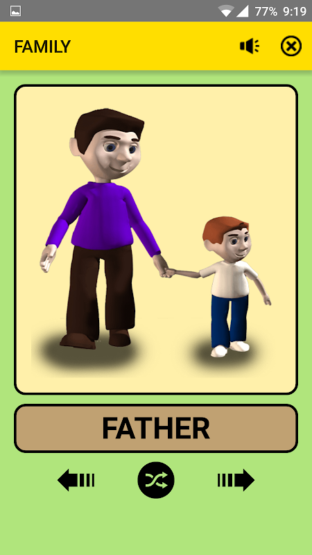 Android Family and Relations For Kids : Educational Game Screen 1