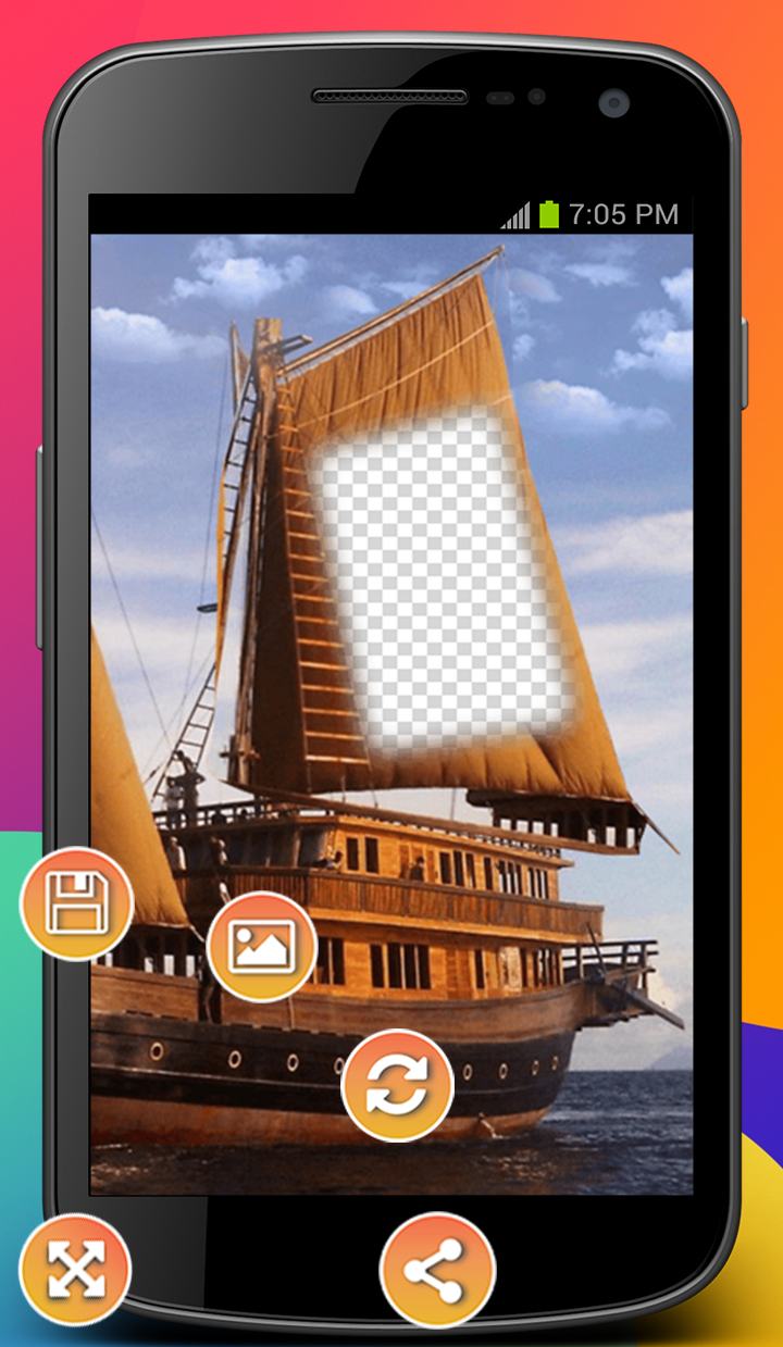 Android Hoarding Ship Photo Montage Screen 1