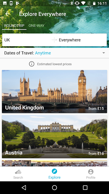 Skyscanner- Flights, Hotels, Trains and Car Hire 5.55 Screen 5