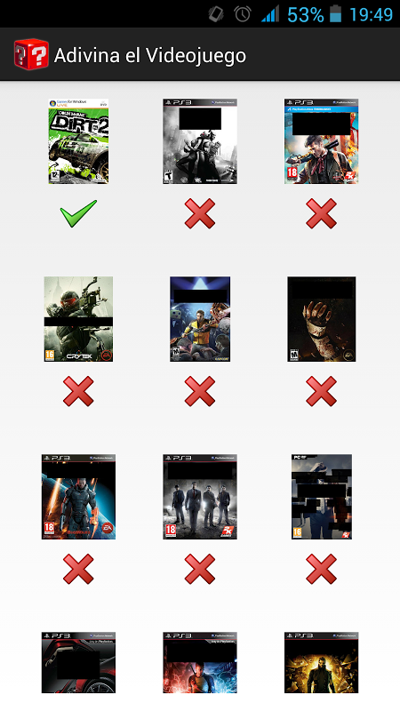Android Guess the Game Screen 7