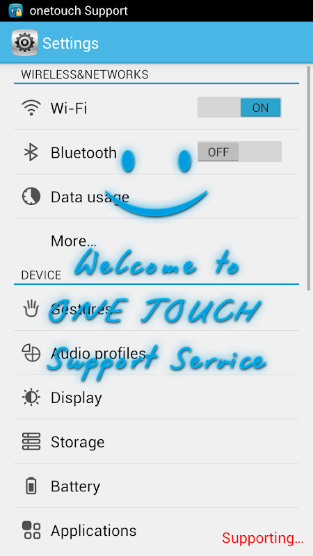 ONE TOUCH Support 1.0.71.1 (Build 79) Screen 4