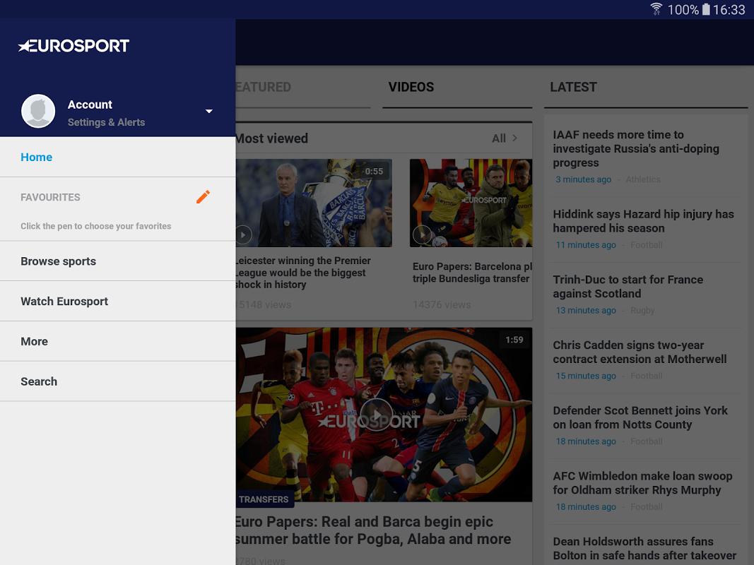 Android Eurosport Screen 11