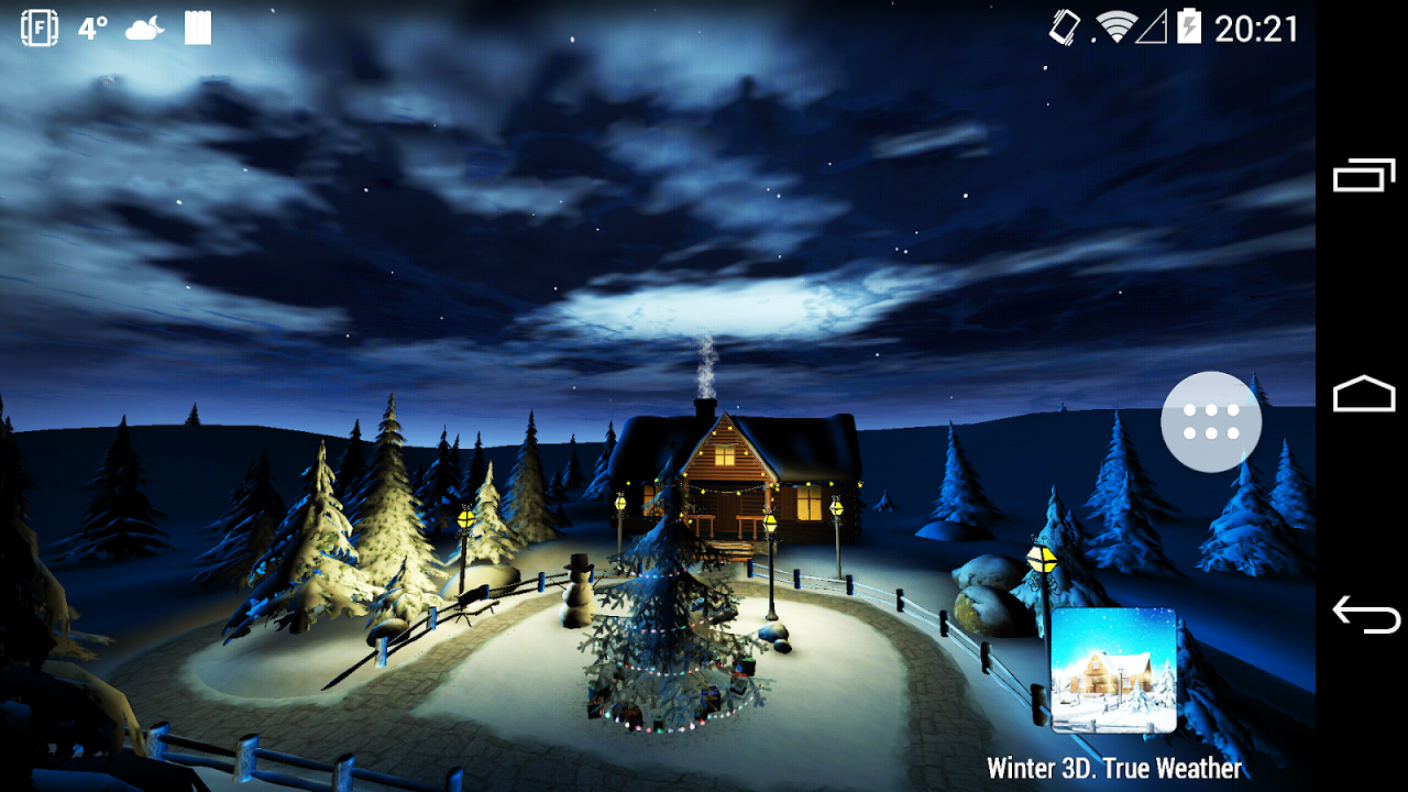 Android Winter 3D, True Weather Screen 8