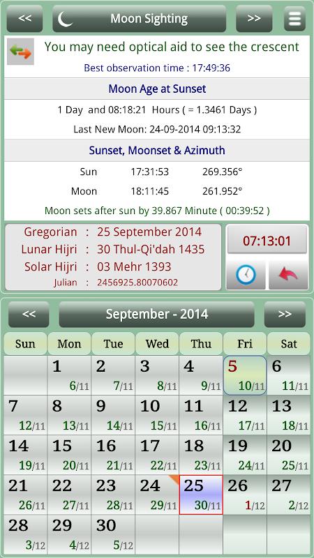 Sun & Moon Calendar v3.6.0 Screen 14