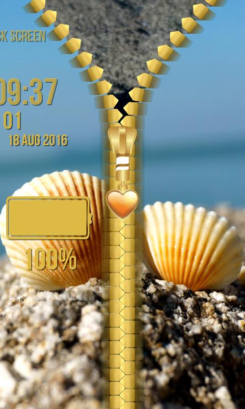 Seashells Zipper Lock Screen 1.2 Screen 4