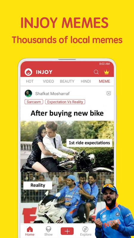 Injoy - Funniest Indian App for Video, Meme V2 3 0 APK