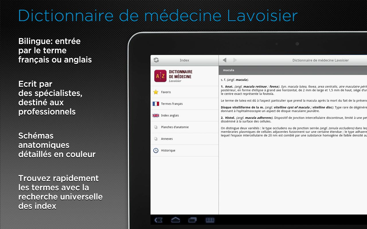 Android Dictionnaire Lavoisier Screen 4