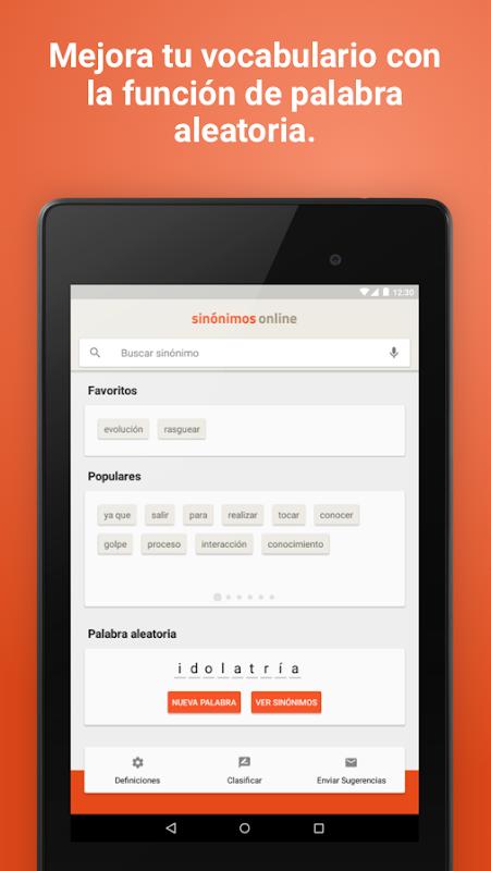 Diccionario Sinónimos Offline 2.7.0 Screen 16
