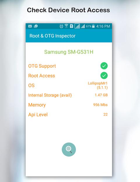 Root & OTG (USB) Inspector 1.4 Screen 1