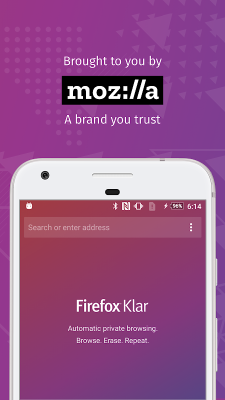 Firefox Klar: The privacy browser 8.0.2 Screen 2
