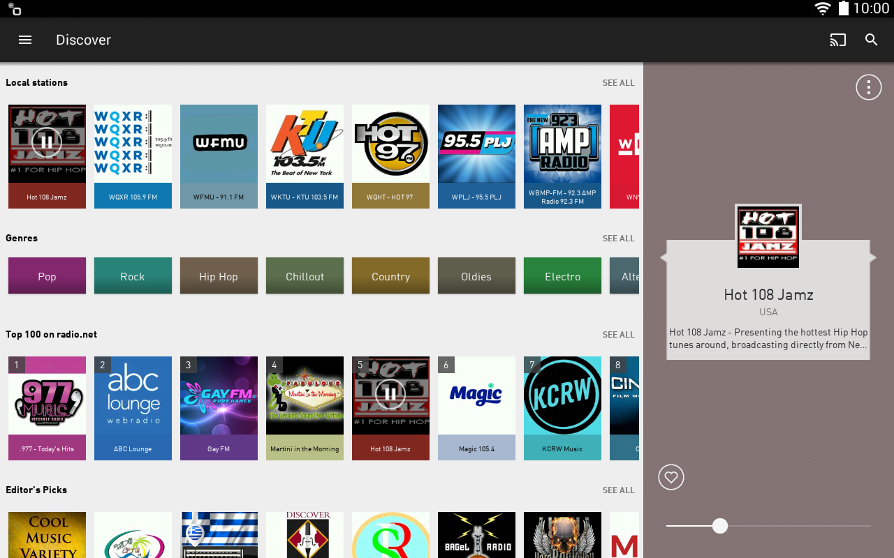 Android radio.net - Tune in to more than 30,000 stations Screen 1