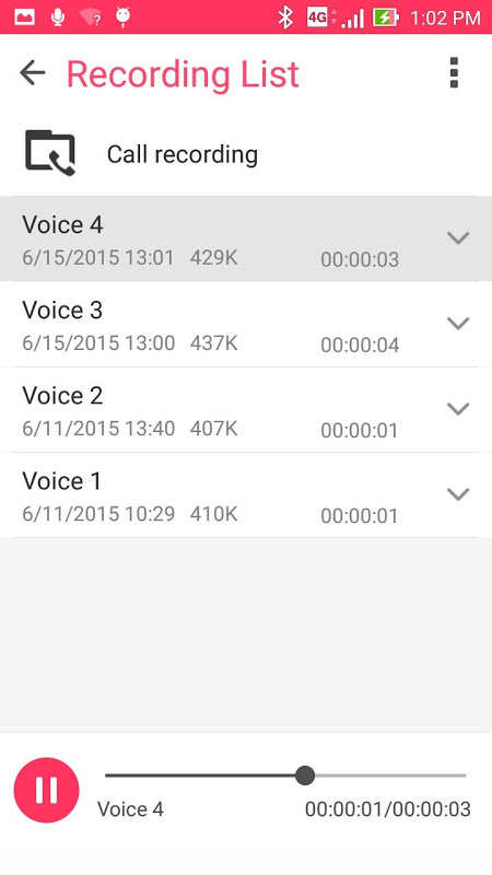 ASUS Sound Recorder 2.0.0.21_190411 Screen 2