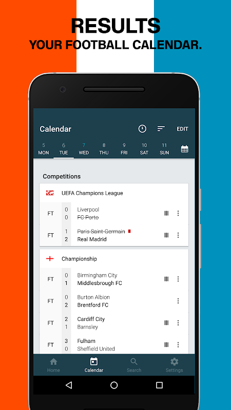 Forza Football - Live scores 4.2.8 Screen 1