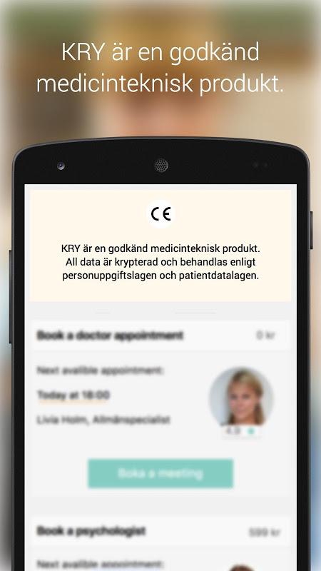 KRY - Läkarbesök i mobilen 2.3 Screen 3