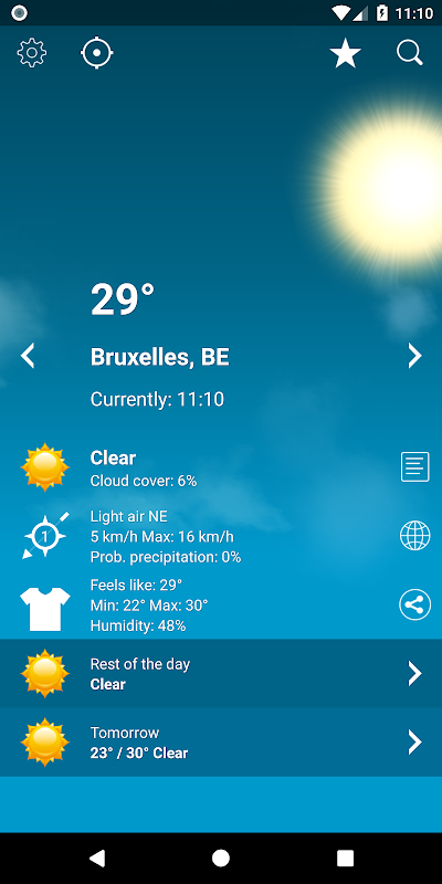 Weather Belgium XL PRO 1.4.3.6-be Screen 10