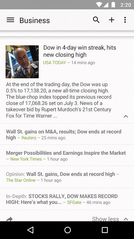 Google News & Weather 2.8.5 (136063537) Screen 3