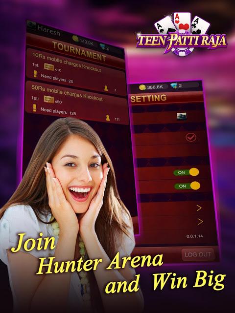 Android Teen Patti Raja- Indian poker and 3 patti free casino game Screen 9