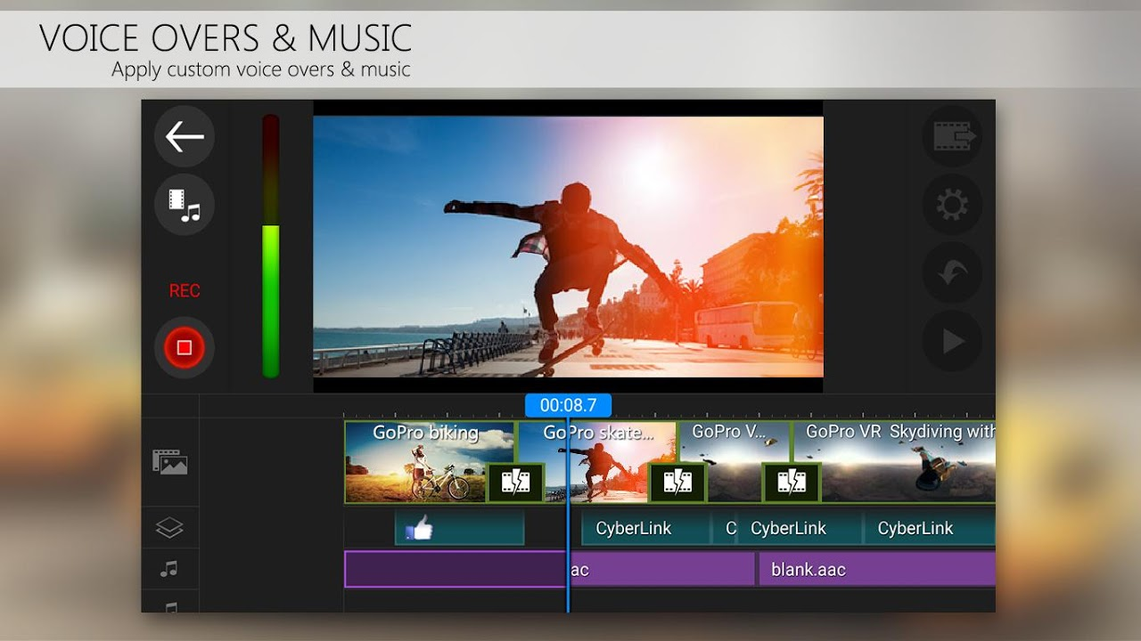 PowerDirector Video Editor App: 4K, Slow Mo & More 5.0.1 Screen 4