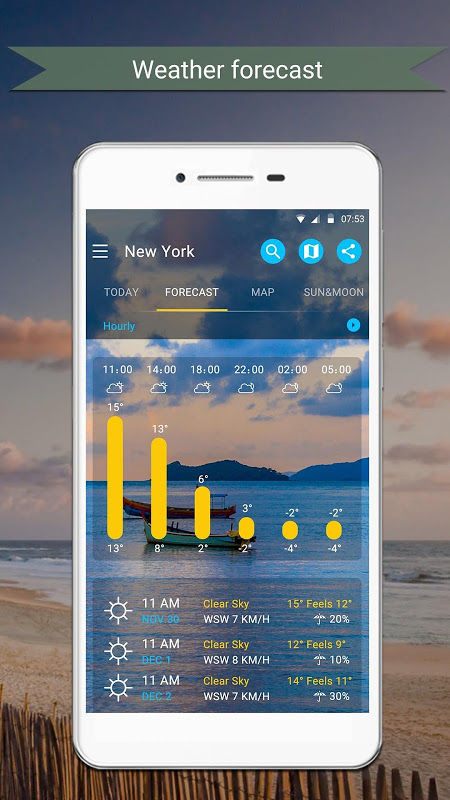 Android Weather Screen 5