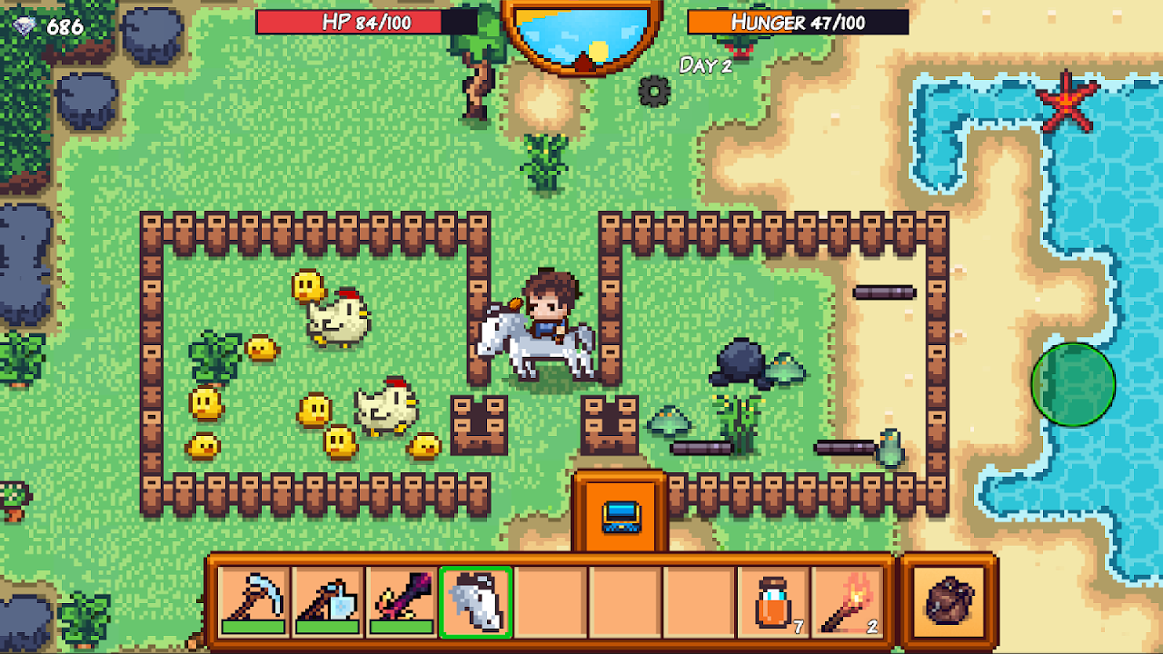 Android Pixel Survival Game 3 Screen 2