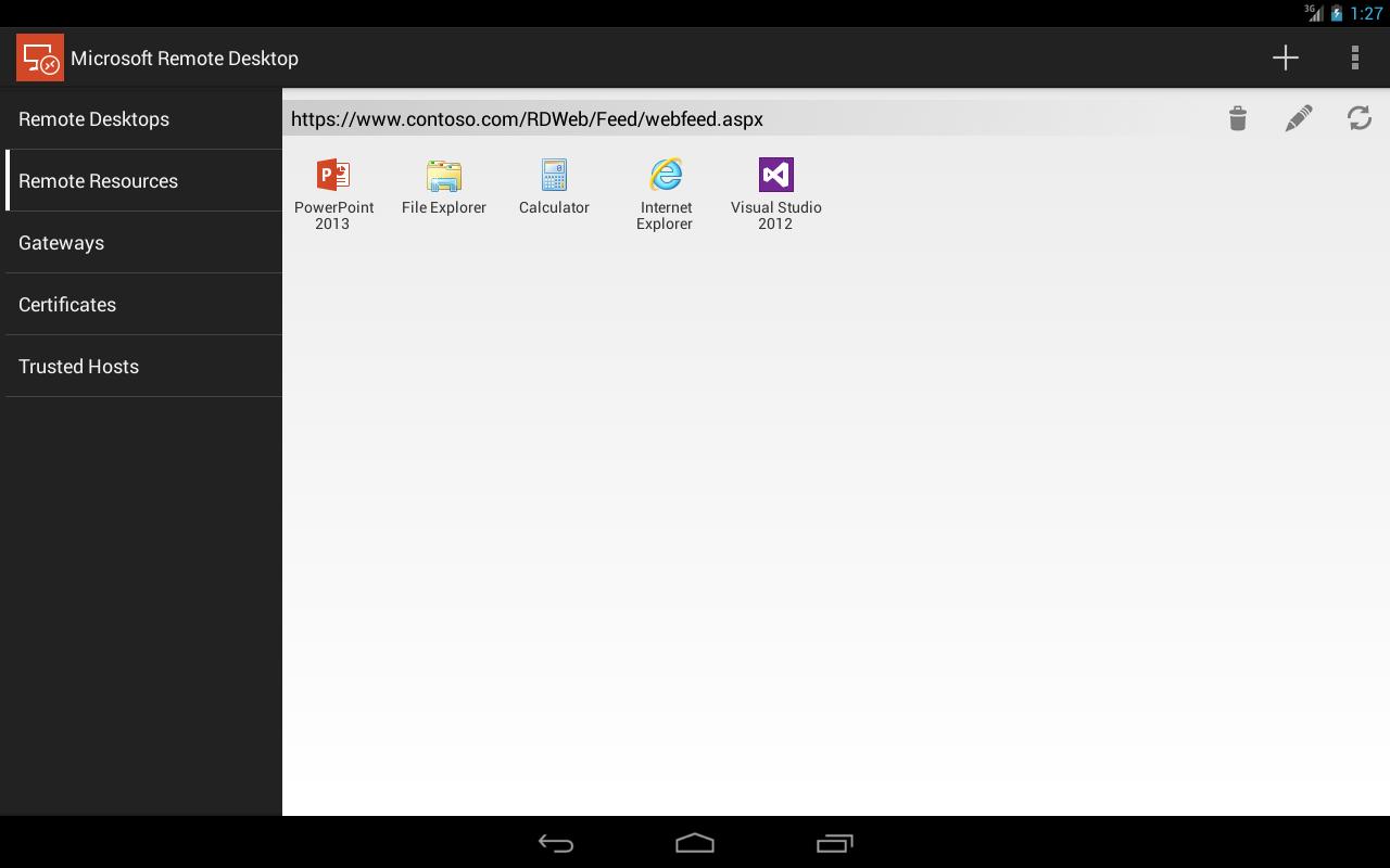 Microsoft Remote Desktop 8.0.5.24406 Screen 4