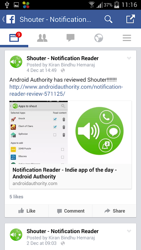 Shouter - Notification Reader 3.91 Screen 7