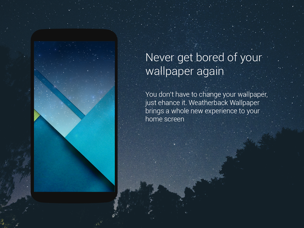 Android Weather: Weatherback, Effects on your homescreen Screen 3