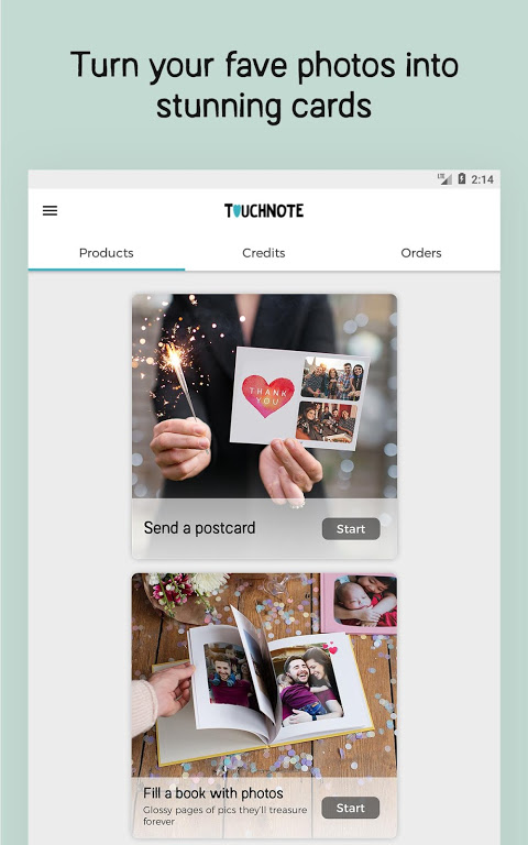 TouchNote - Photo Cards & Gifts 7.6.3 Screen 2