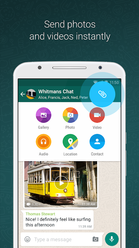 Android WhatsApp Messenger Screen 2