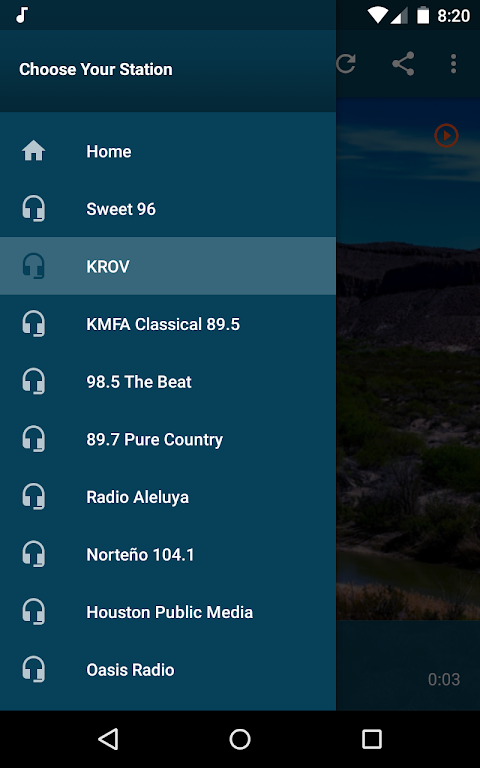 Android Texas Radio Stations Screen 3