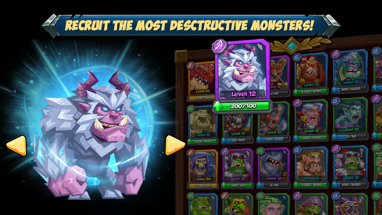 Android Tactical Monsters Rumble Arena - Tactic & Strategy Screen 7