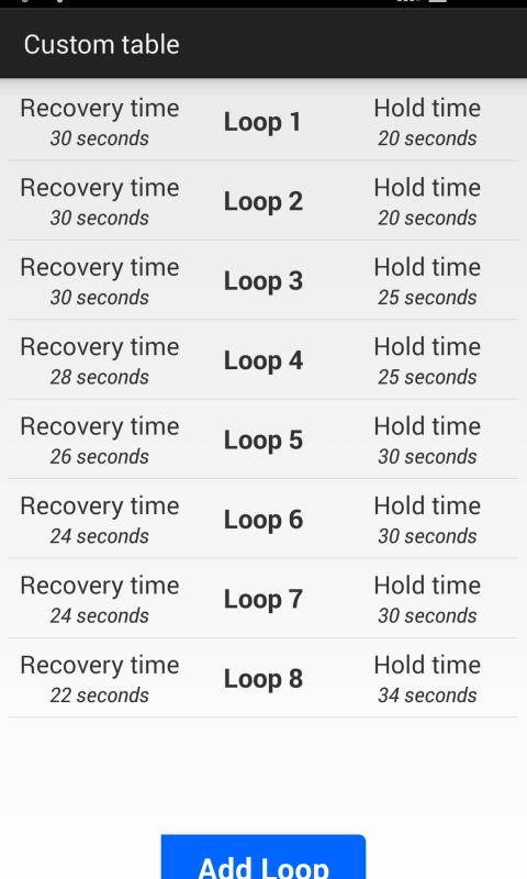 Android Apnea Trainer Screen 5
