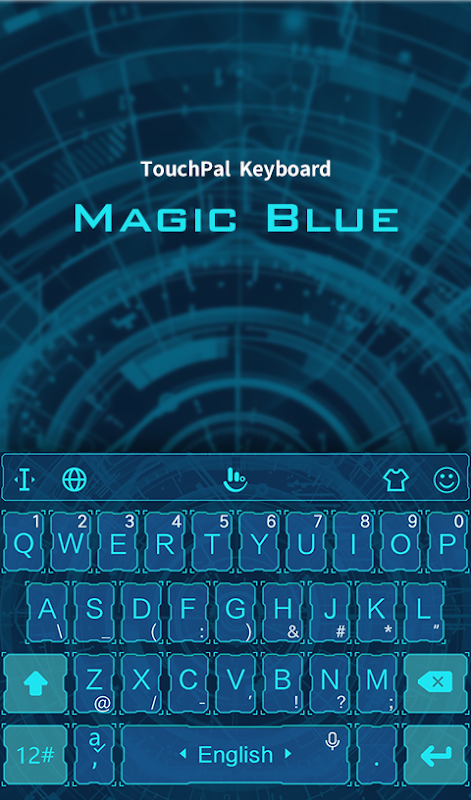 Android Magic Blue FREE Keyboard Theme Screen 1