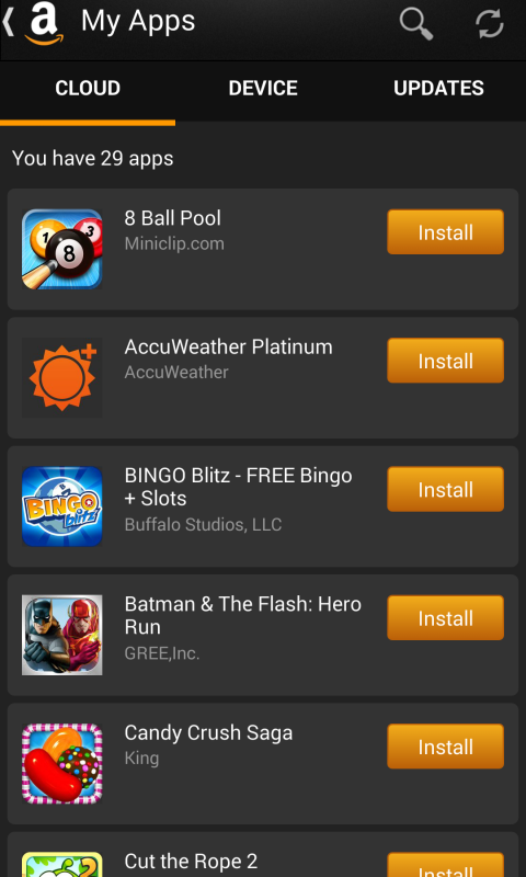 Android Appstore Screen 2