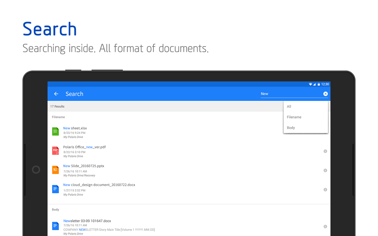 Android Polaris Office - Word, Docs, Sheets, Slide, PDF Screen 17